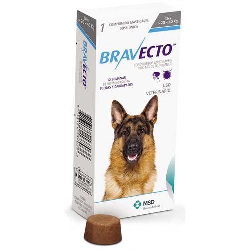 Бравекто жевательная таблетка для собак 20-40 кг