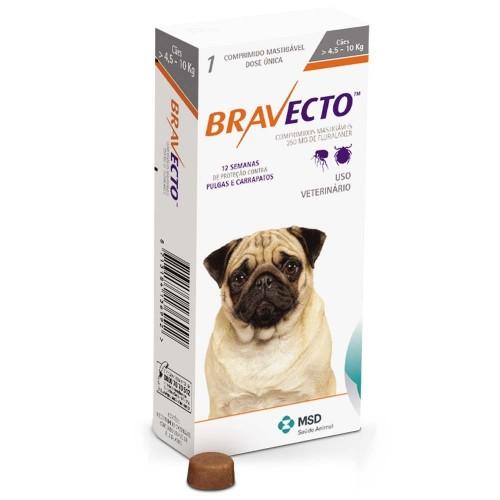 Бравекто жевательная таблетка для собак 4,5-10 кг